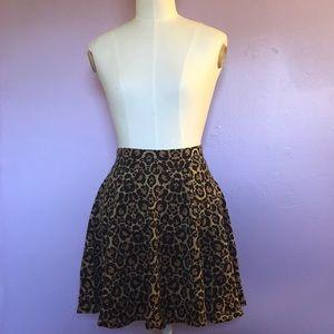 H&M Leopard Skater Skirt